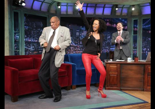 Bill Cosby dances with his 'Cosby Show' co-star Tempestt Bledsoe