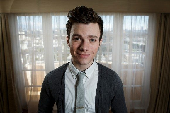 "Actor Chris Colfer poses for a portrait to promote his movie ""Struck by Lightning"" at the Four Seasons Hotel in Beverly Hills"