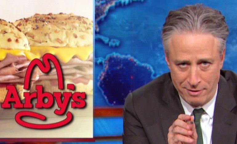 """Arby's Ad """"Forgives"""" Jon Stewart on the Eve of 'Daily Show' Finale"""
