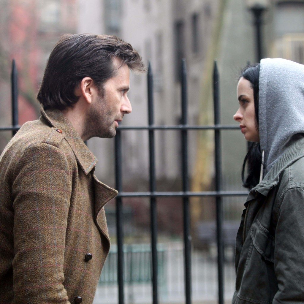 Tennant and Ritter on Jessica Jones set