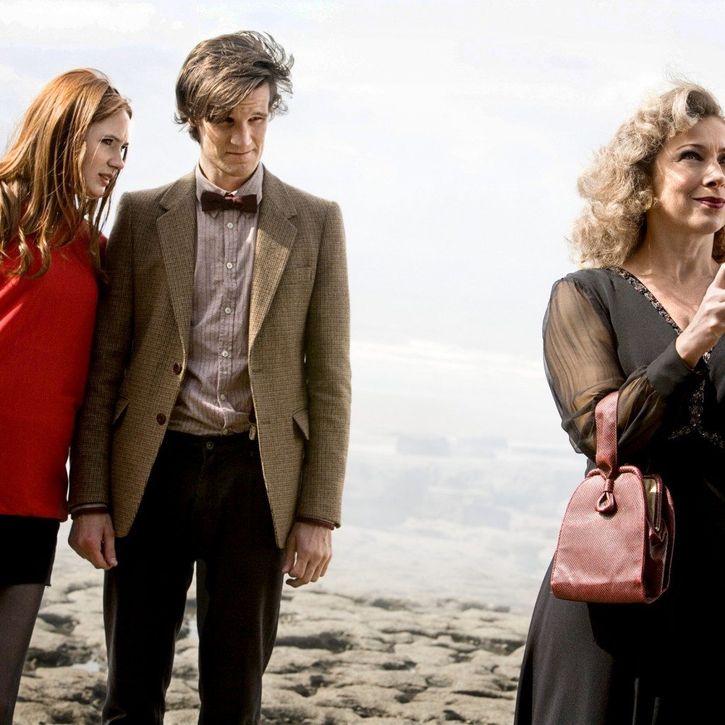 Coleman, Matt Smith's Doctor, and Alex Kingston
