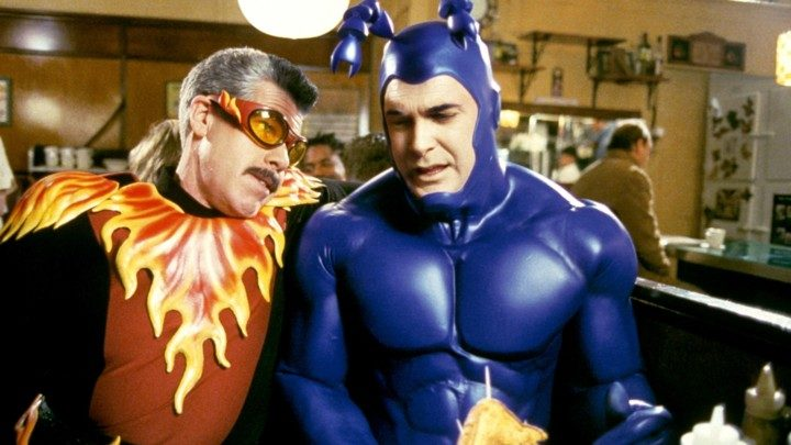 THE TICK, Ron Perlman, Patrick Warburton, 'Couples', (Season 1), 2001-2002, © Columbia TriStar / Cou