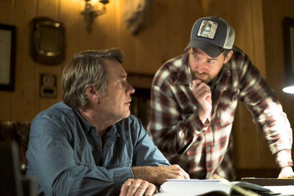 Robert Taylor and Tony Tost on the set of 'Longmire'