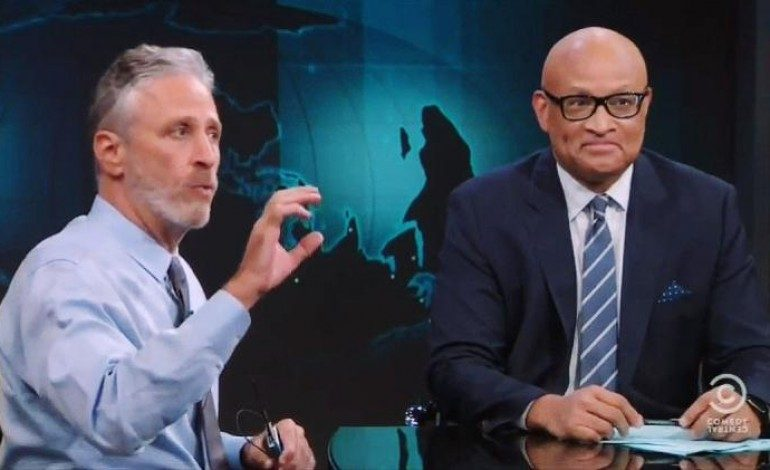 "Jon Stewart Guests on Last Episode of ""The Nightly Show"""