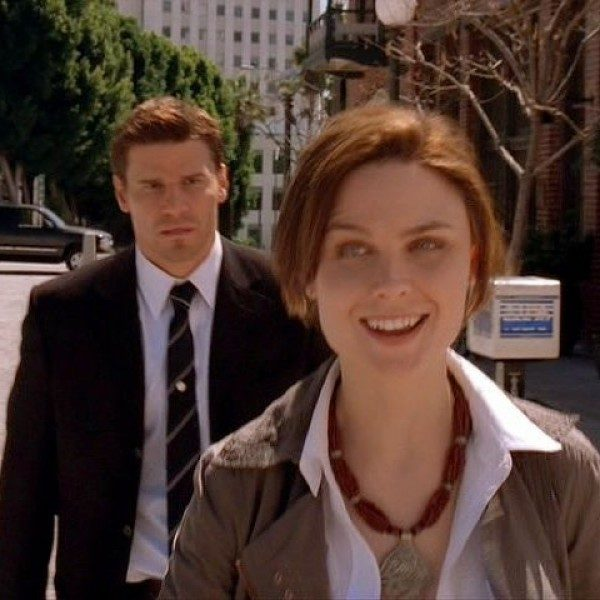 Booth (left) and Bones (right) both made their 'Bones' debut with the pilot episode on September 13, 2005.