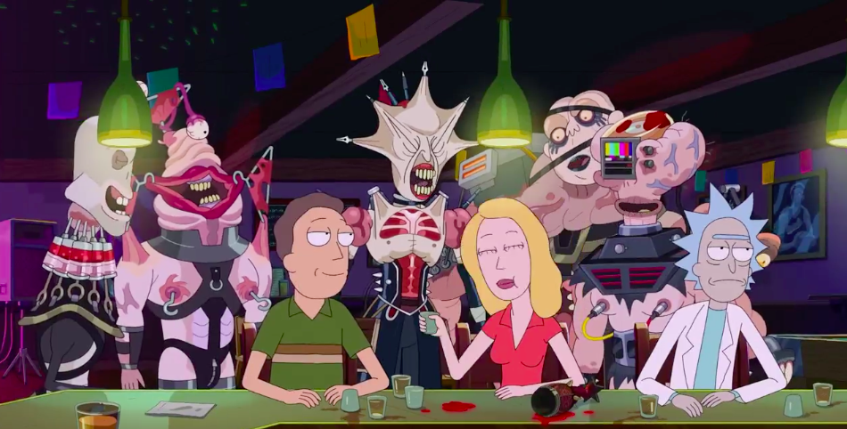 """Review of 'Rick and Morty' Season Five Episode Five """"Amortycan Grickfitti"""""""
